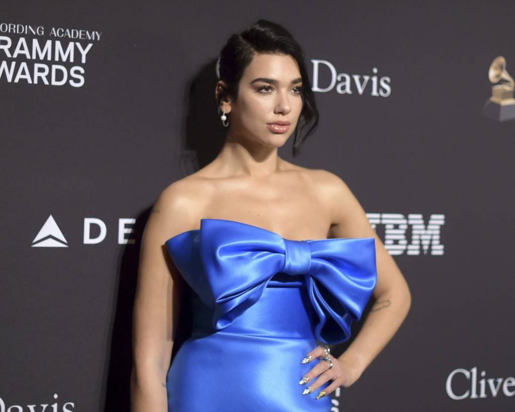 Dua Lipa arrives at the Pre-Grammy Gala And Salute To Industry Icons at the Beverly Hilton Hotel on Saturday, Feb. 9, 2019, in Beverly Hills, Calif. (