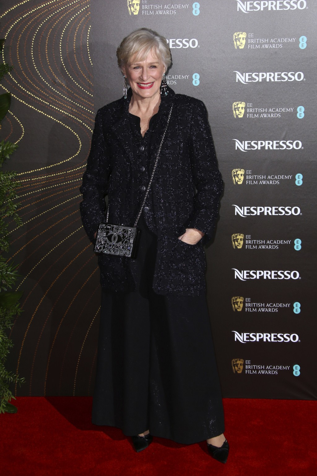 Actress Glenn Close poses for photographers upon arrival at the BAFTA Nominees Party in London, Saturday, Feb. 9, 2019. (Photo by Joel C Ryan/Invision