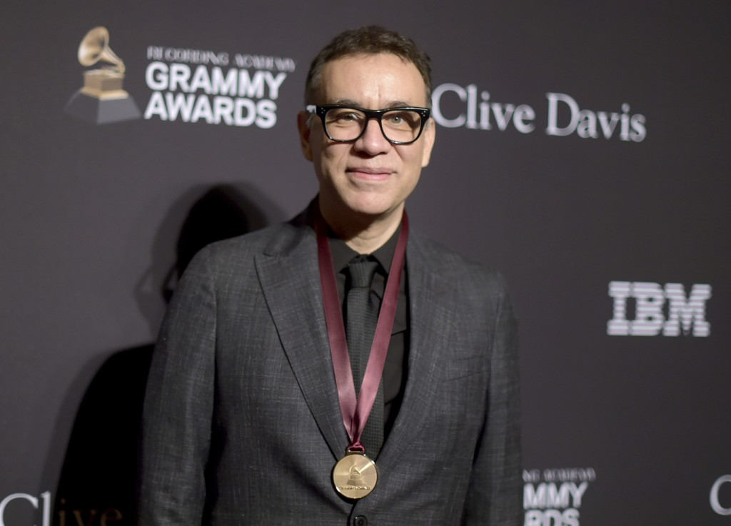 Fred Armisen arrives at Pre-Grammy Gala And Salute To Industry Icons at the Beverly Hilton Hotel on Saturday, Feb. 9, 2019, in Beverly Hills, Calif. (
