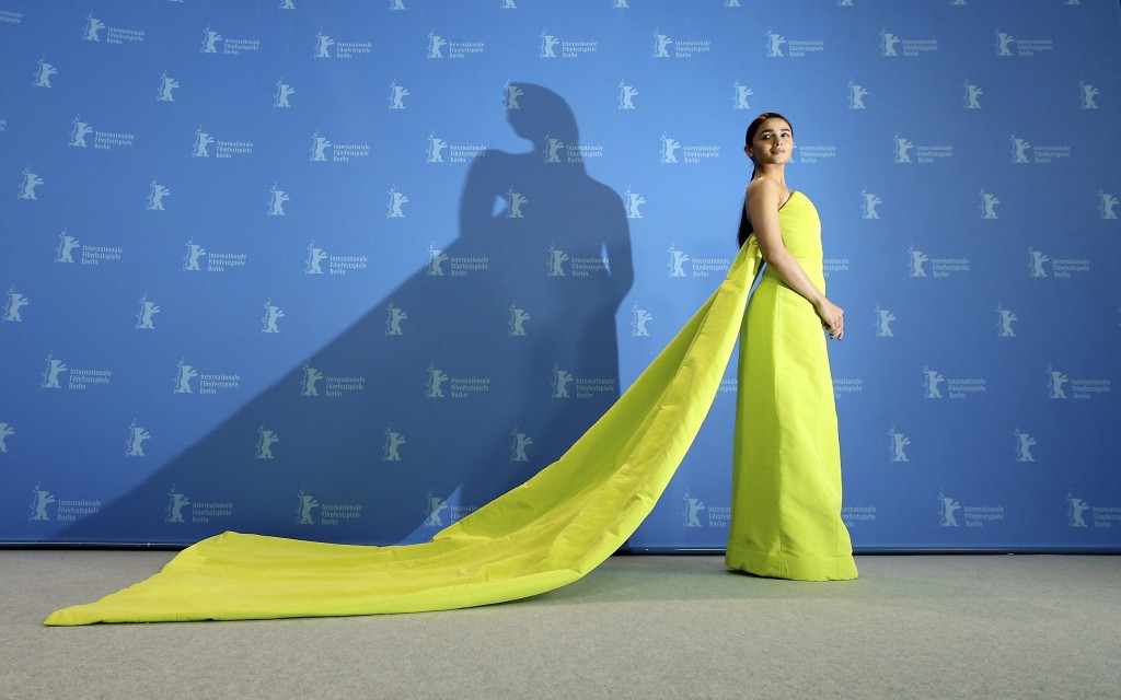 Actress Alia Bhatt poses for the photographers during a photo call for the film 'Gully Boy' at the 2019 Berlinale Film Festival in Berlin, Germany, Sa...