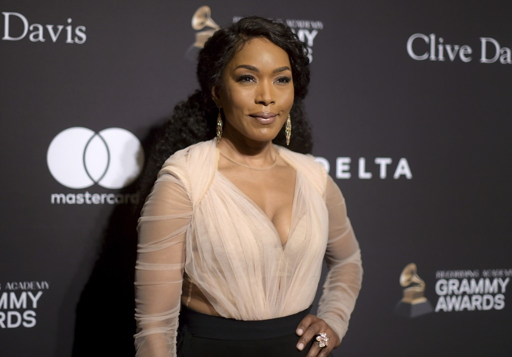 Angela Bassett arrives at the Pre-Grammy Gala And Salute To Industry Icons at the Beverly Hilton Hotel on Saturday, Feb. 9, 2019, in Beverly Hills, Ca