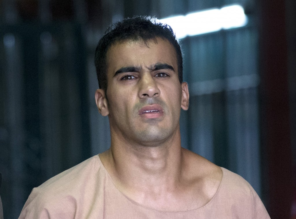 FILE - In this Monday, Feb. 4, 2019, file photo, refugee soccer player Bahraini Hakeem al-Araibi leaves the criminal court in Bangkok, Thailand. A Tha
