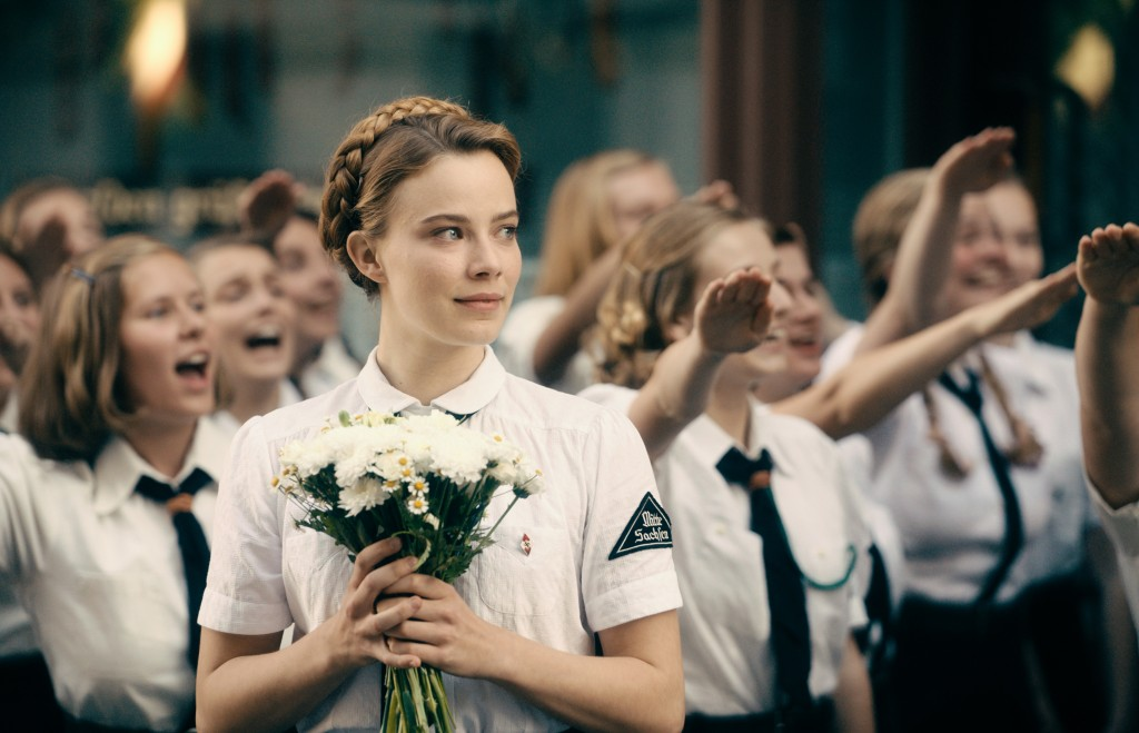 """This image released by Sony Pictures Classics shows Saskia Rosendahl in a scene from """"Never Look Away.""""  (Caleb Deschanel/Sony Pictures Classics via A..."""