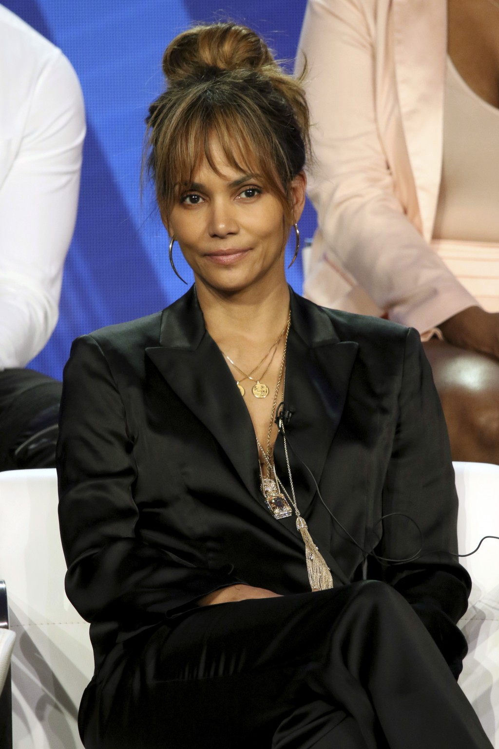 "Halle Berry participates in the ""Boomerang"" panel during the BET presentation at the Television Critics Association Winter Press Tour at The Langham H"