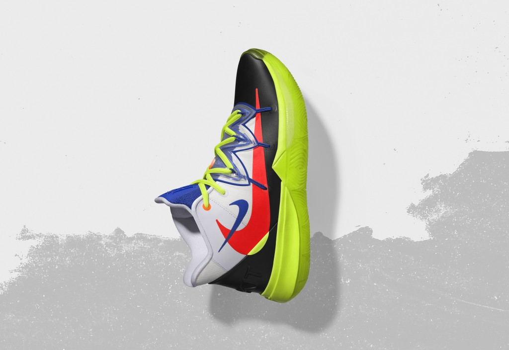 In this undated image provided by Nike, a shoe that Boston Celtics' Kyrie Irving will wear for the NBA All-Star Game is shown. The 68th NBA All-Star G