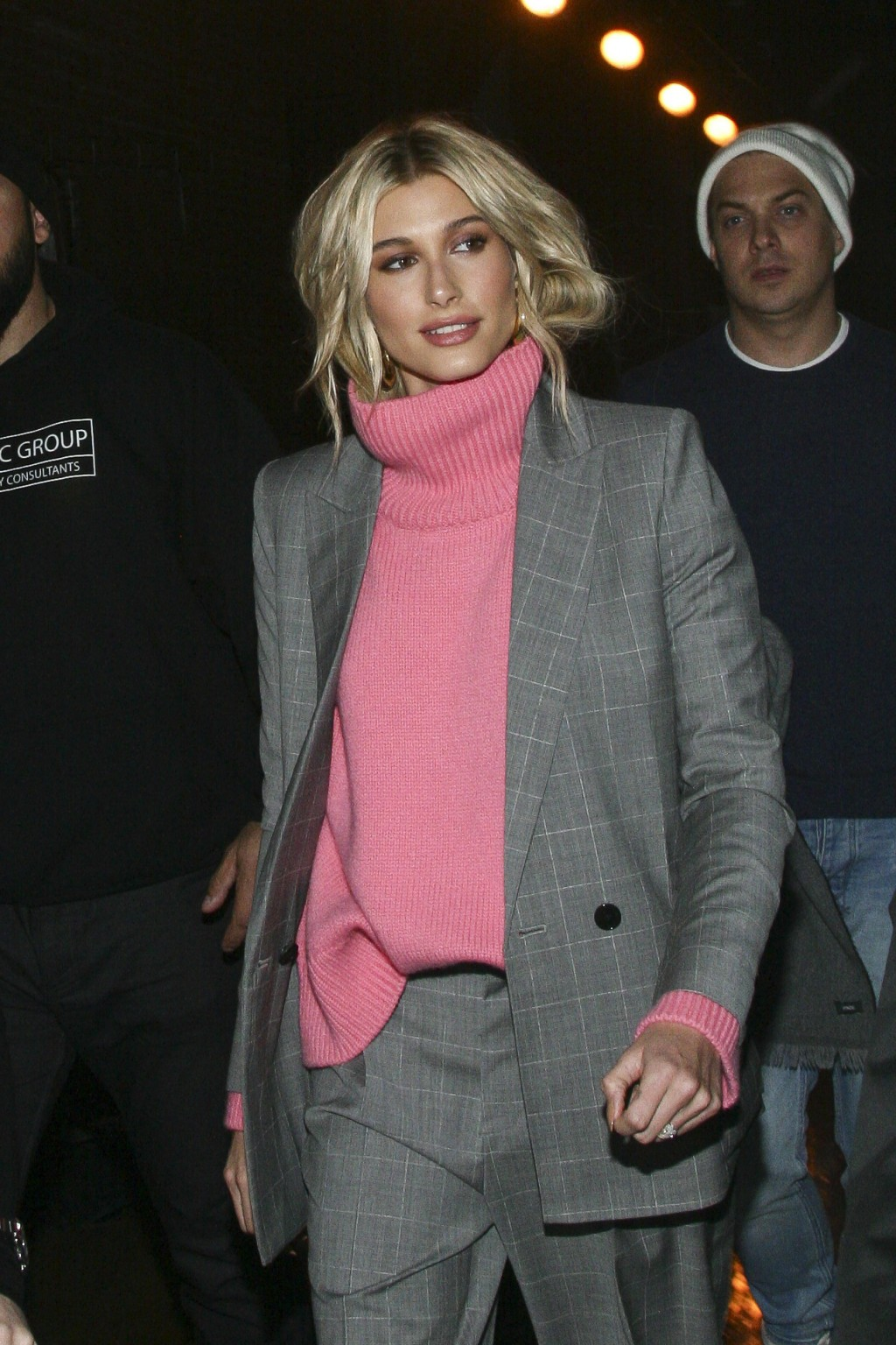 Hailey Baldwin attends the NYFW Fall/Winter 2019 Zadig & Voltaire fashion show at The Tunnel on Monday, Feb. 11, 2019, in New York. (Photo by Andy Kro...