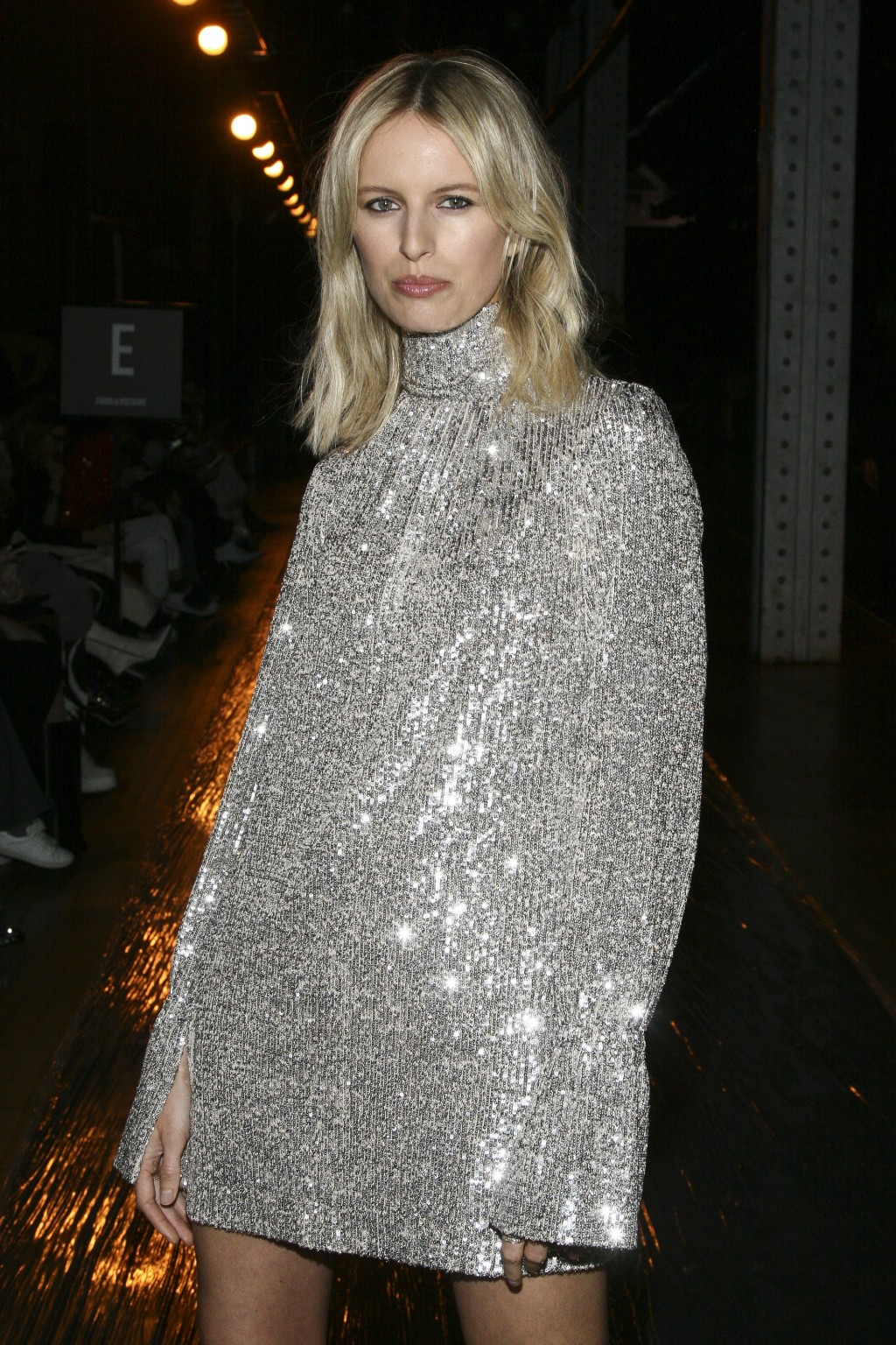Karolina Kurkova attends the NYFW Fall/Winter 2019 Zadig & Voltaire fashion show at The Tunnel on Monday, Feb. 11, 2019, in New York. (Photo by Andy K...