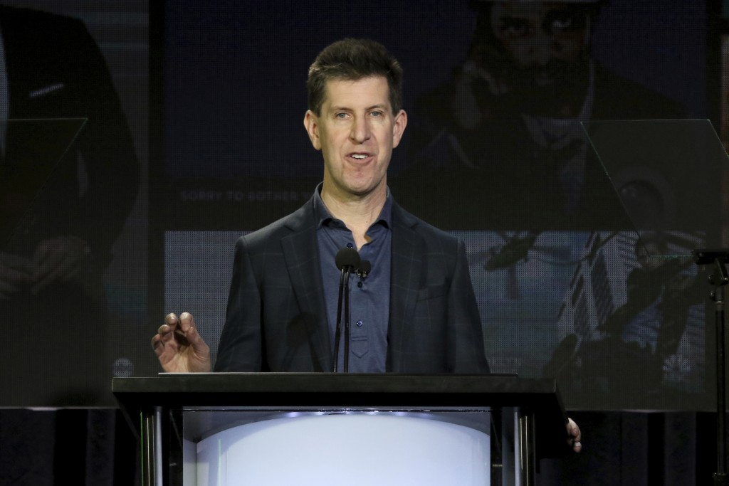 Senior Vice President of Content of Hulu Craig Erwich speaks at the executive session during the Hulu presentation at the Television Critics Associati...