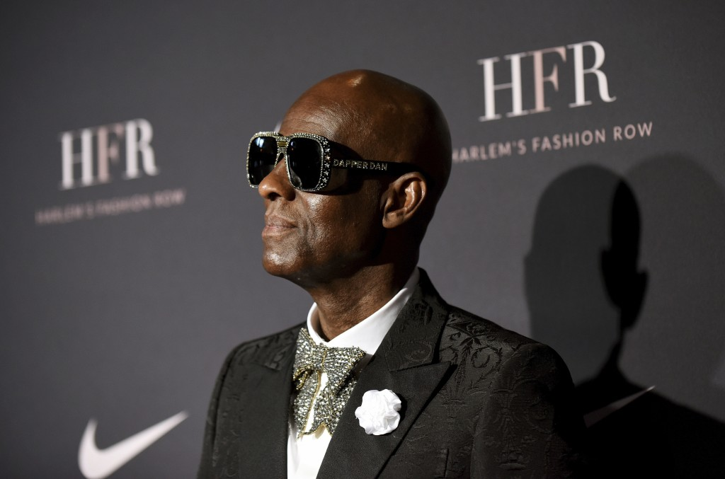 FILE- In this Sept. 4, 2018, file photo Honoree and fashion icon Dapper Dan attends a fashion show and awards ceremony held by the Harlem Fashion Row ...