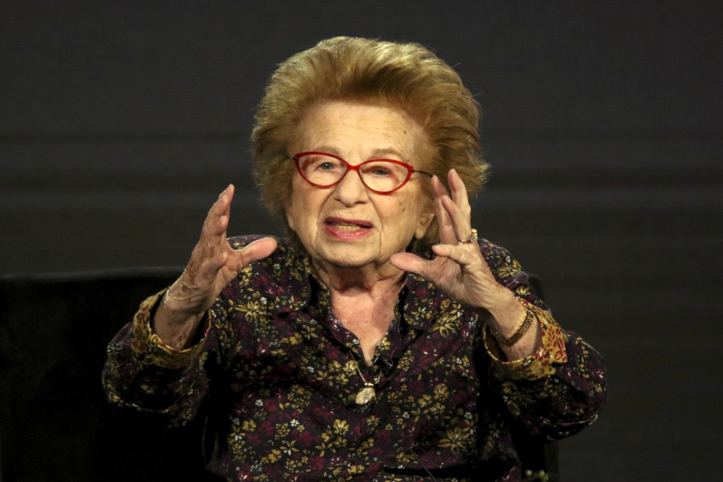 "Dr. Ruth Westheimer participates in the ""Ask Dr. Ruth"" panel during the Hulu presentation at the Television Critics Association Winter Press Tour at T..."