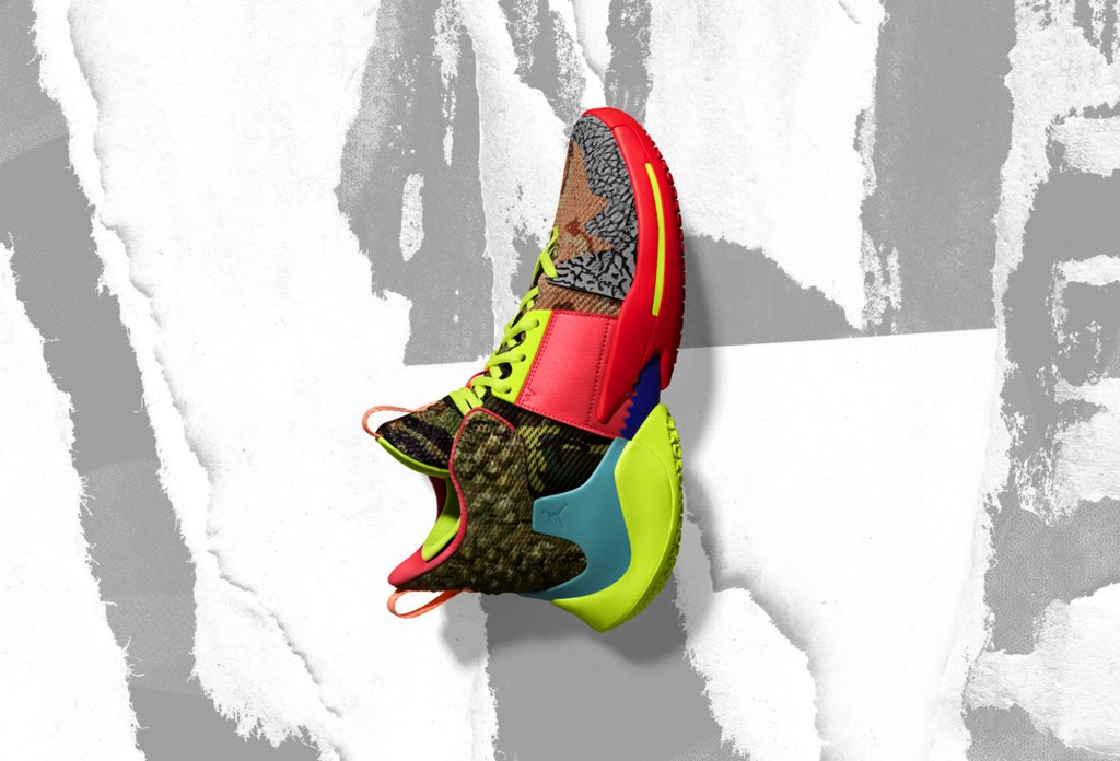 In this undated image provided by Nike, a shoe that Oklahoma City Thunder's Russell Westbrook will wear for the NBA All-Star Game is shown. The 68th N