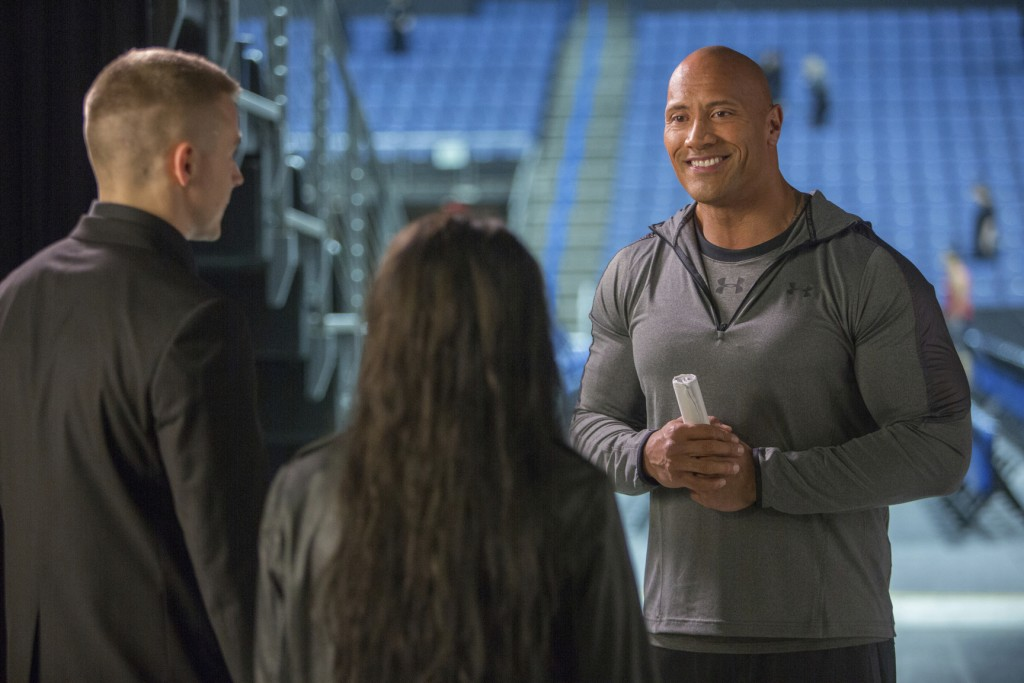 "This image released by Metro Goldwyn Mayer Pictures shows Dwayne Johnson in a scene from ""Fighting with My Family."" (Robert Viglasky/Metro Goldwyn May..."