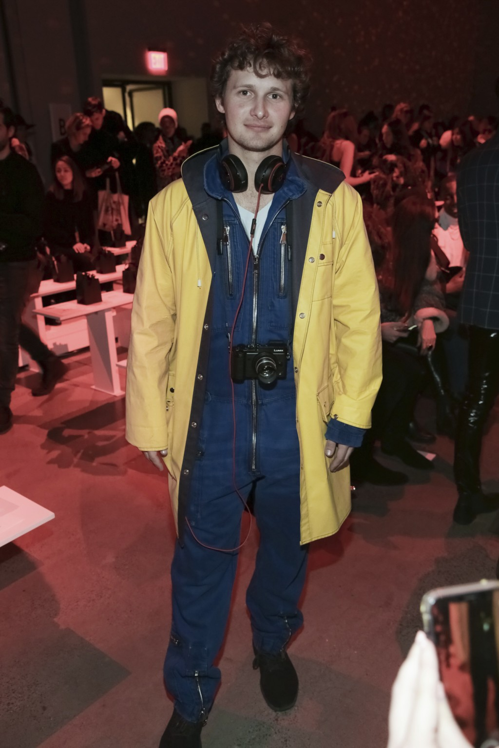 Warren Elgort attends The Blonds Runway Show held at Spring Studios during New York Fashion Week on Tuesday, Feb. 12, 2019 in New York. (Photo by Bren