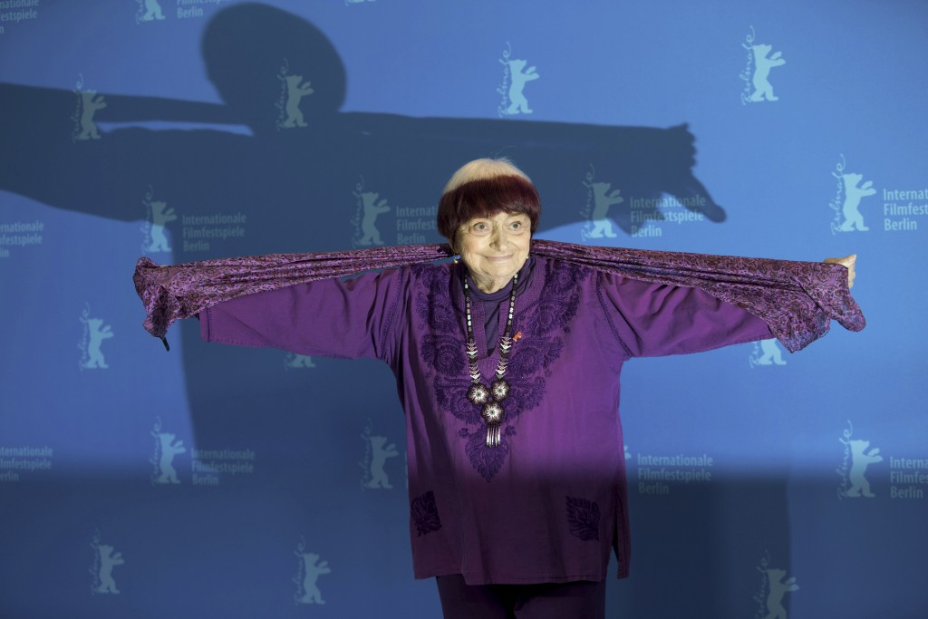 Director Agnes Varda pose for photographers during a photo-call for the film 'Varda by Agnes' at the 2019 Berlinale Film Festival in Berlin, Germany, ...