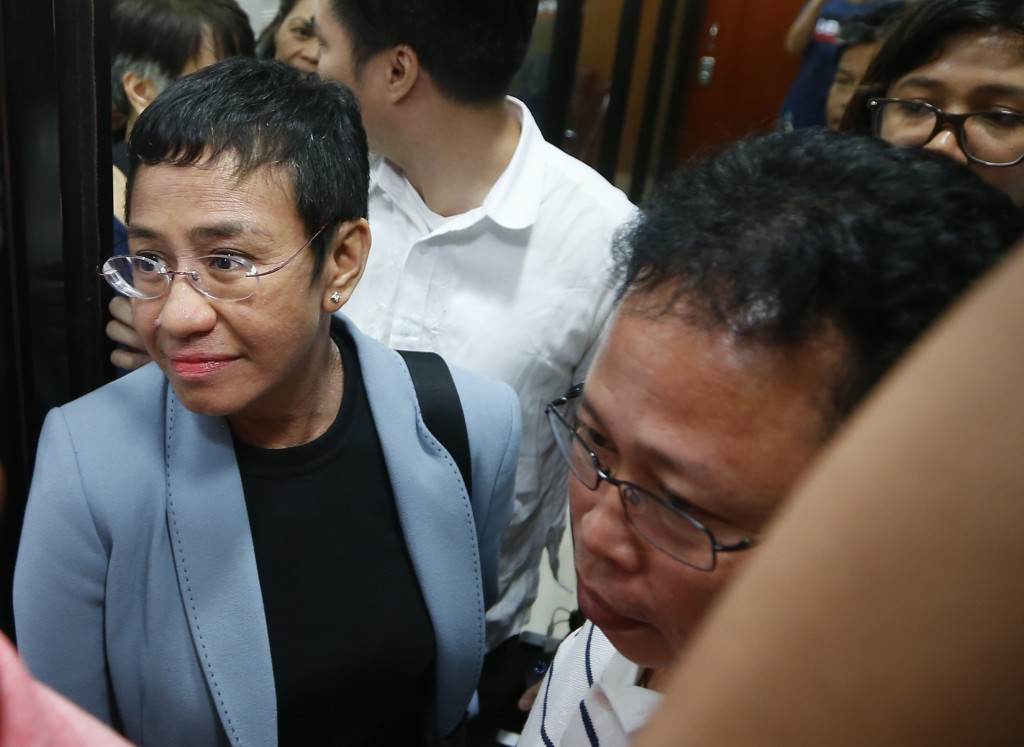 Maria Ressa, the award-winning head of a Philippine online news site Rappler that has aggressively covered President Rodrigo Duterte's policies, is es