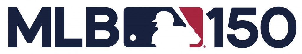 This logo provided by Major League Baseball shows the league's 150 anniversary logo. Major League Baseball's 150th anniversary logo features the silho