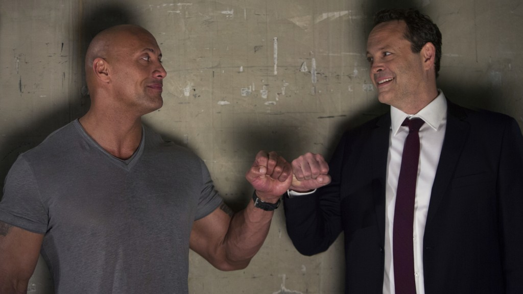"This image released by Metro Goldwyn Mayer Pictures shows Dwayne Johnson, left, and Vince Vaughn in a scene from ""Fighting with My Family."" (Robert Vi..."