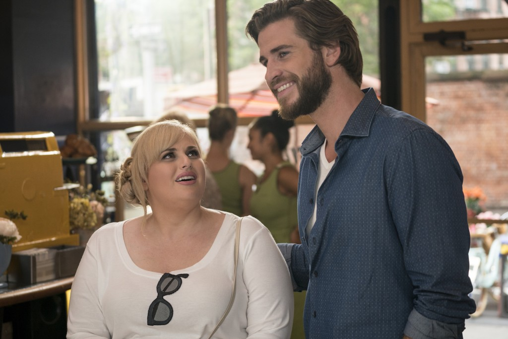 "This image released by Warner Bros. Pictures shows Rebel Wilson, left, and Liam Hemsworth in a scene from ""Isn't It Romantic."" (Michael Parmelee/Warne..."