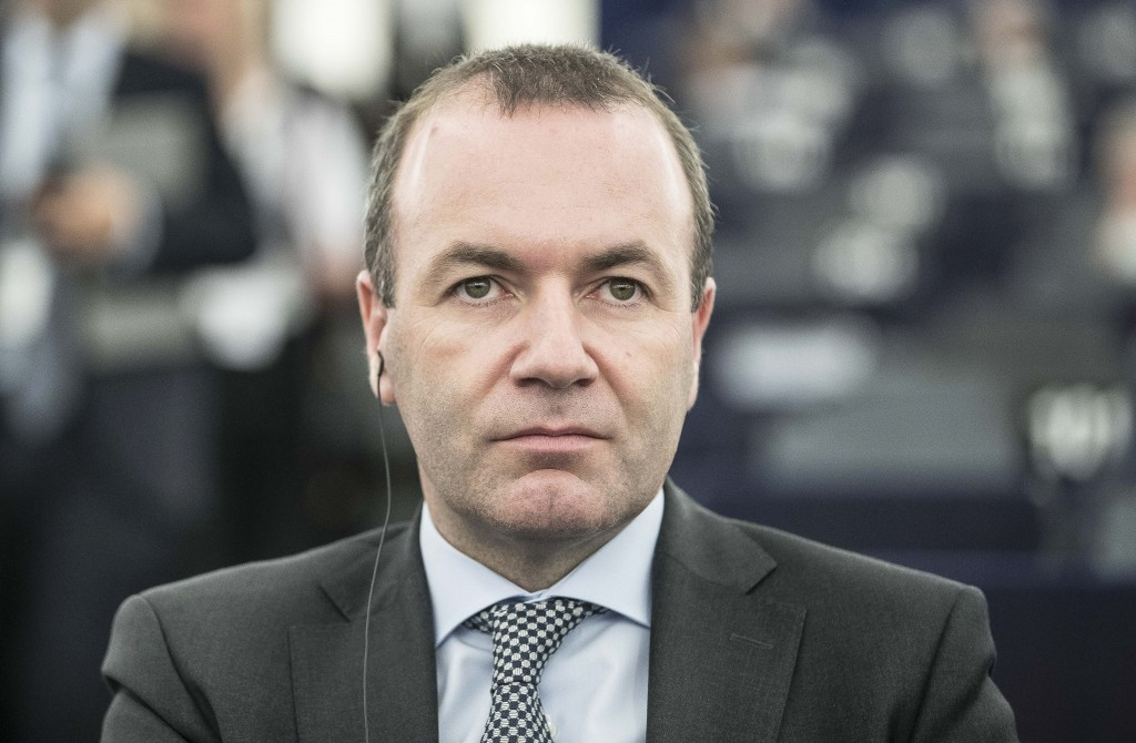 Germany Christian Democratic Union Manfred Weber, member of the Christian Social Union party, CSU, and top candidate of the European People's Party (E...