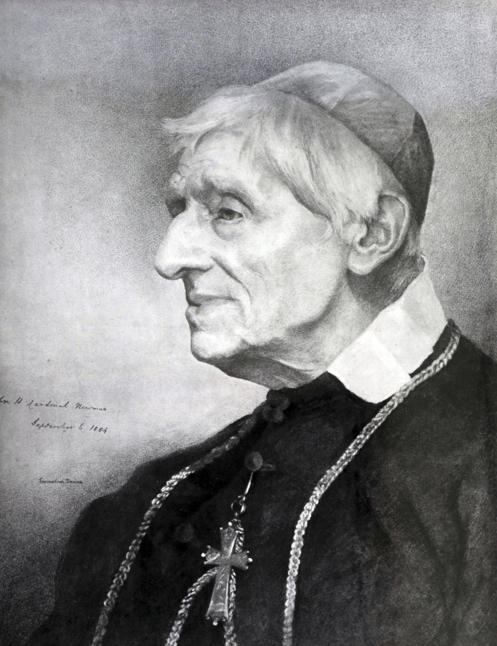 This undated photo provided Wednesday, Feb. 13, 2019 by the Catholic Trust for England and Wales shows a portrait of Cardinal John Henry Newman. The V...