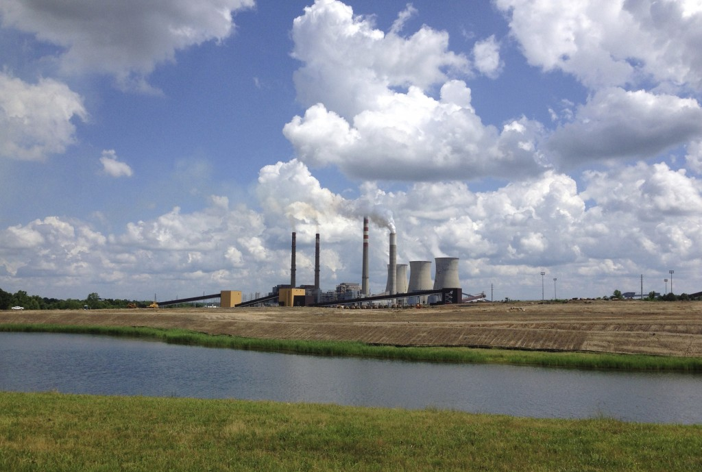 FILE - This June 3, 2014, file photo shows a panoramic view of the Paradise Fossil Plant in Drakesboro Ky. President Donald Trump's vow to save the co...