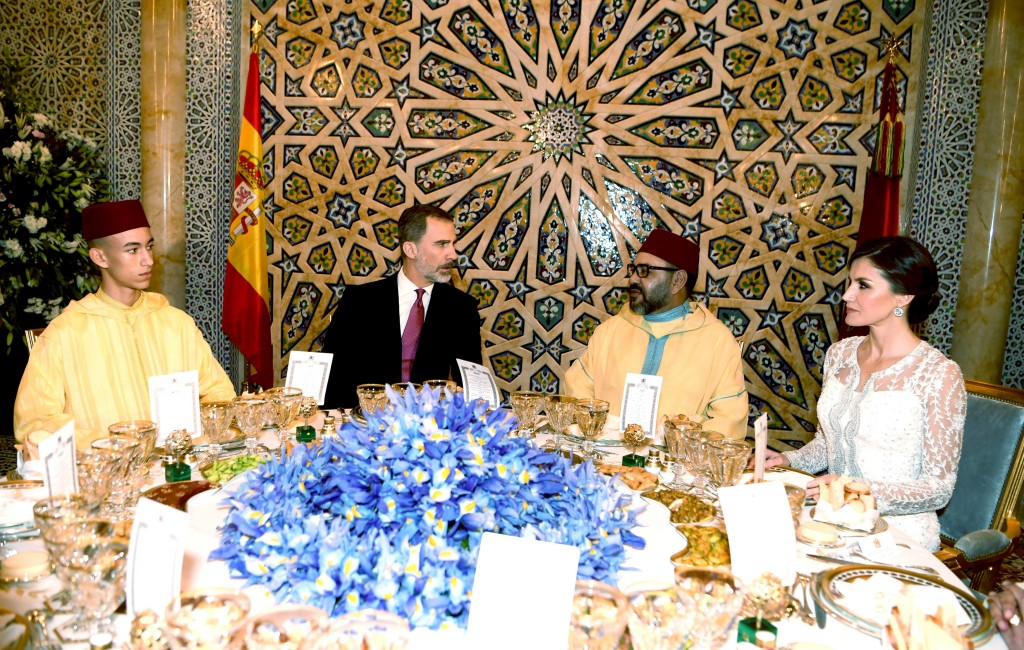 This photo provided by the Moroccan Royal Palace via the Moroccan News Agency (MAP), shows, from left to right : Morocco's Crown Prince Molly Hassan, ...