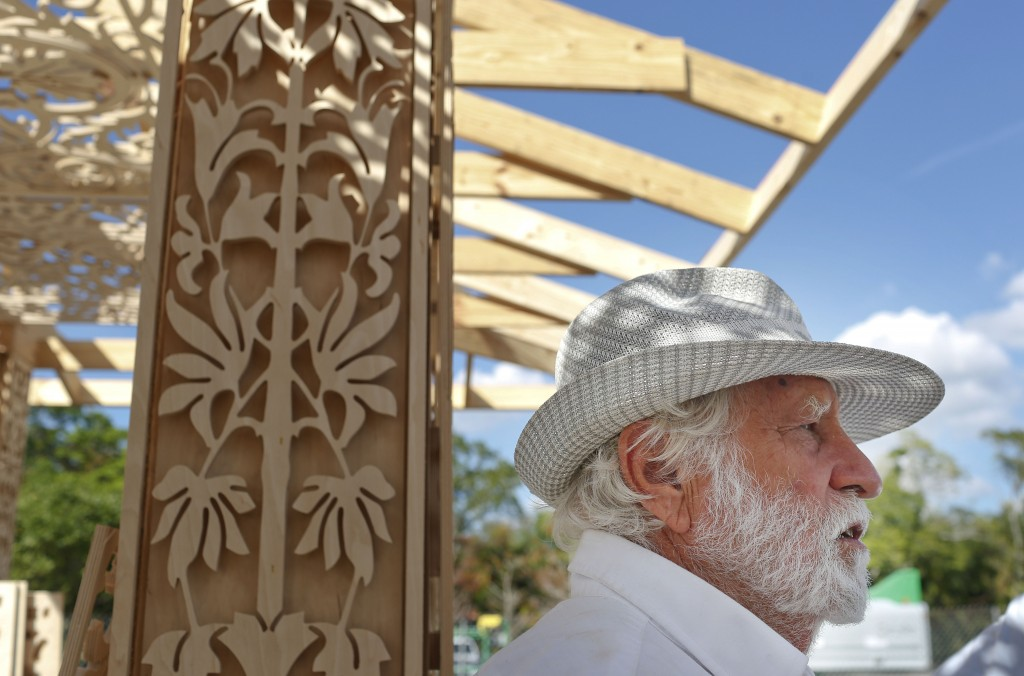 California artist David Best talks about how he is building a non-denominational, temporary temple for the anniversary of the Marjory Stoneman Douglas...