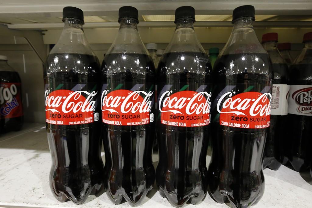 FILE- This Nov. 14, 2018, file photo shows Coca-Cola Zero Sugar at a market in Pittsburgh. The Coca-Cola Co. reports financial results Thursday, Feb.