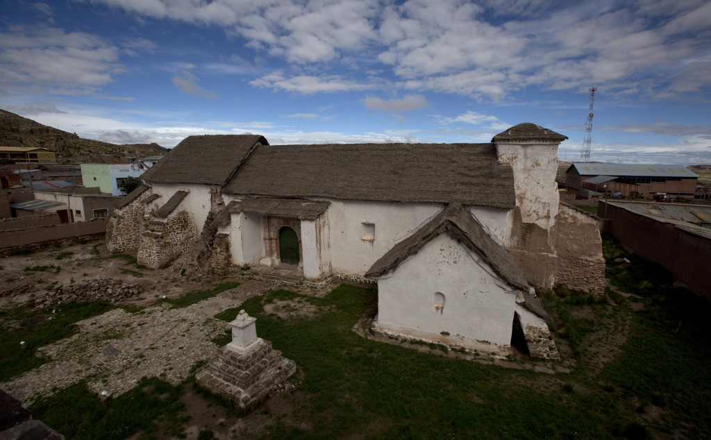The local church stands in a state of disrepair, in Curahuara de Carangas, Bolivia, Saturday, Feb. 9, 2019. This four-century old church whose dazzlin
