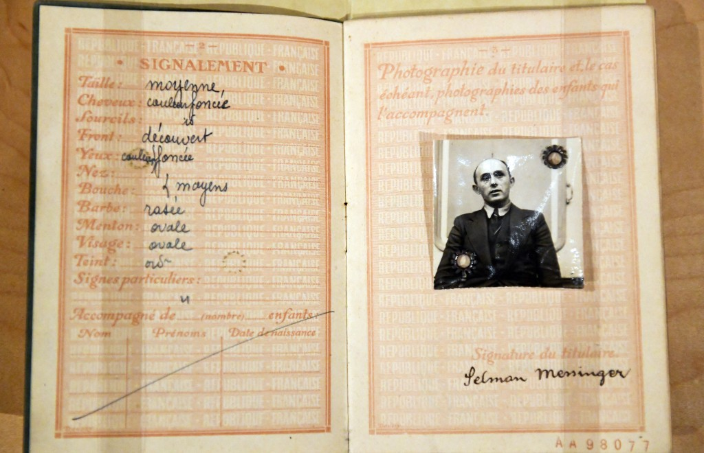 """This Monday, Feb. 11, 2019 photo shows an immigration document that is displayed at the """"People of New York"""" diversity exhibit at the state Capitol in..."""