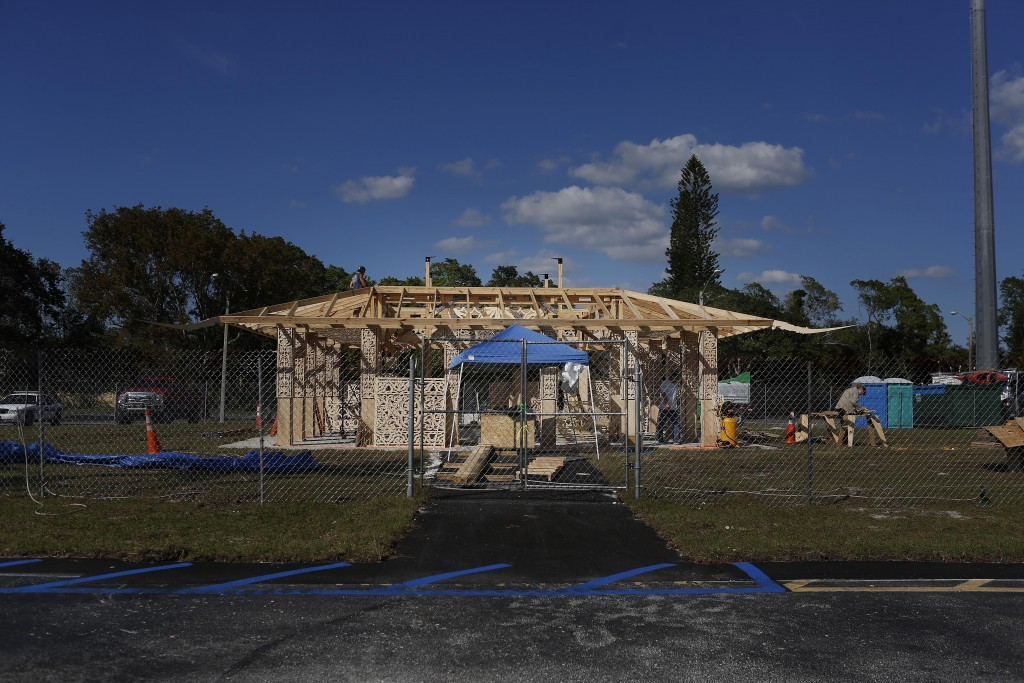 California artist David Best, and a team of volunteers build a non-denominational, temporary temple for the anniversary of the Marjory Stoneman Dougla