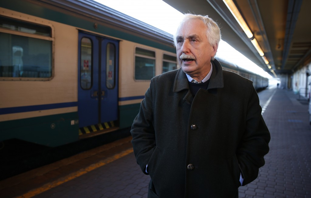 Italian government's extraordinary commissioner for the Lyon-Turin railway Paolo Foietta, speaks with the Associated Press during an interview at the ...
