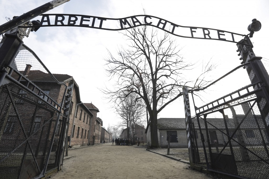 The Nazi concentration camp Auschwitz-Birkenau in Oswiecim, Poland, is pictured on Friday, Feb. 15, 2019 prior the visit of United States Vice Preside...