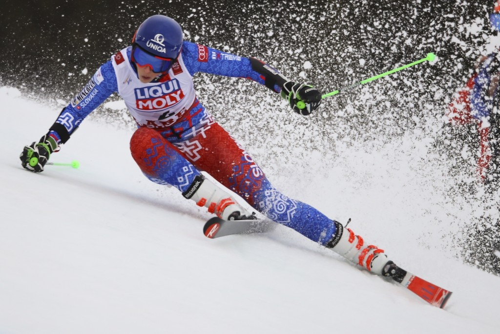 Slovakia's Petra Vlhova competes during the first run of the women's giant slalom, at the alpine ski World Championships in Are, Sweden, Thursday, Feb...