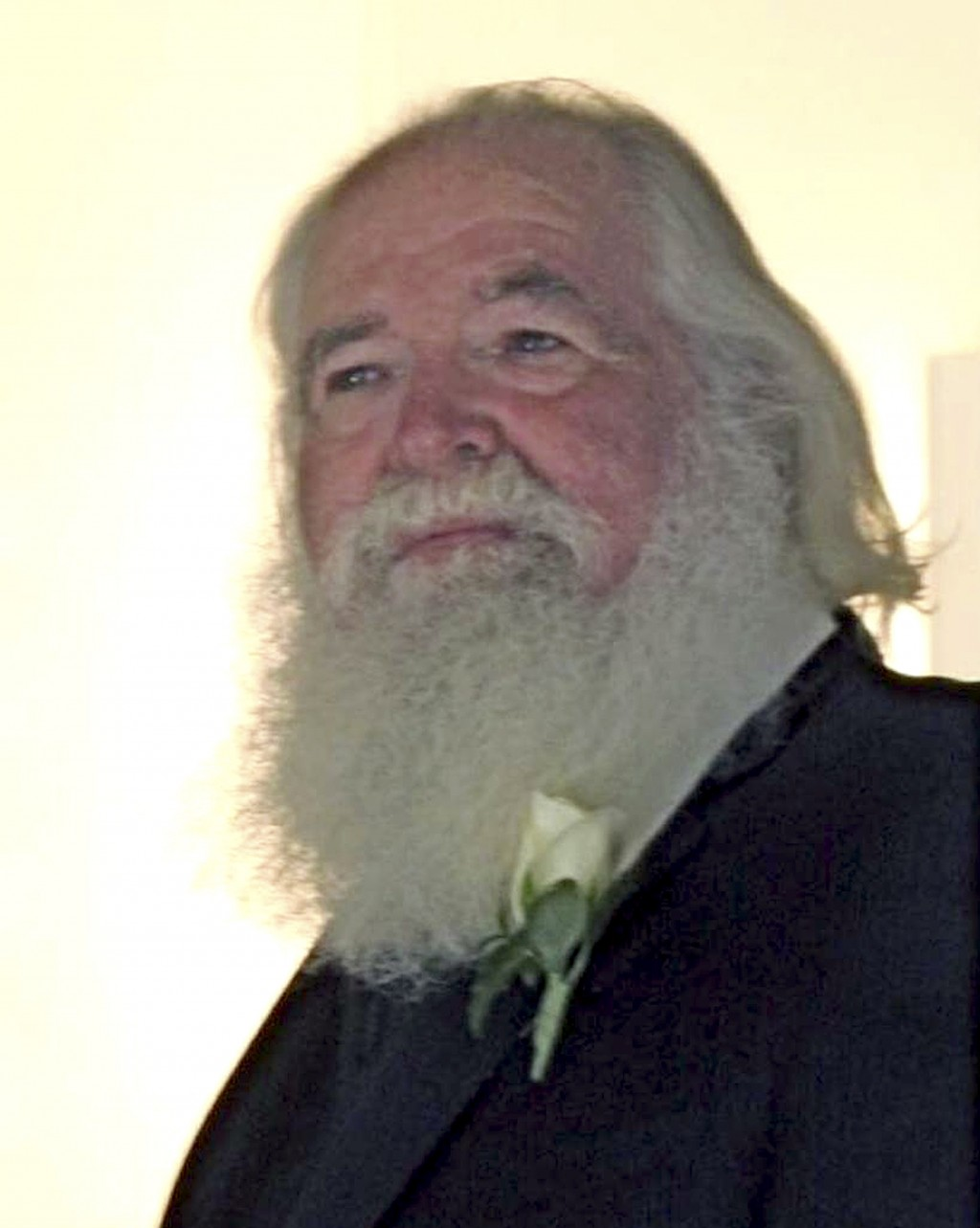 This 2009 photo provided by Chardonnay Telly shows Richard Brown at a wedding in Chico, Calif. Flames overtook 74-year-old Richard Brown's beloved log...