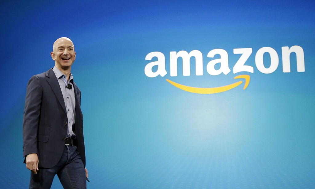 FILE - In this June 16, 2014, file photo, Amazon CEO Jeff Bezos walks onstage for the launch of the new Amazon Fire Phone, in Seattle. Amazon has had ...