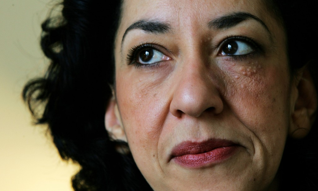 FILE  - In this Wednesday, Feb. 23, 2005 file photo, British author Andrea Levy at home in north London. Levy has died after suffering from cancer in ...