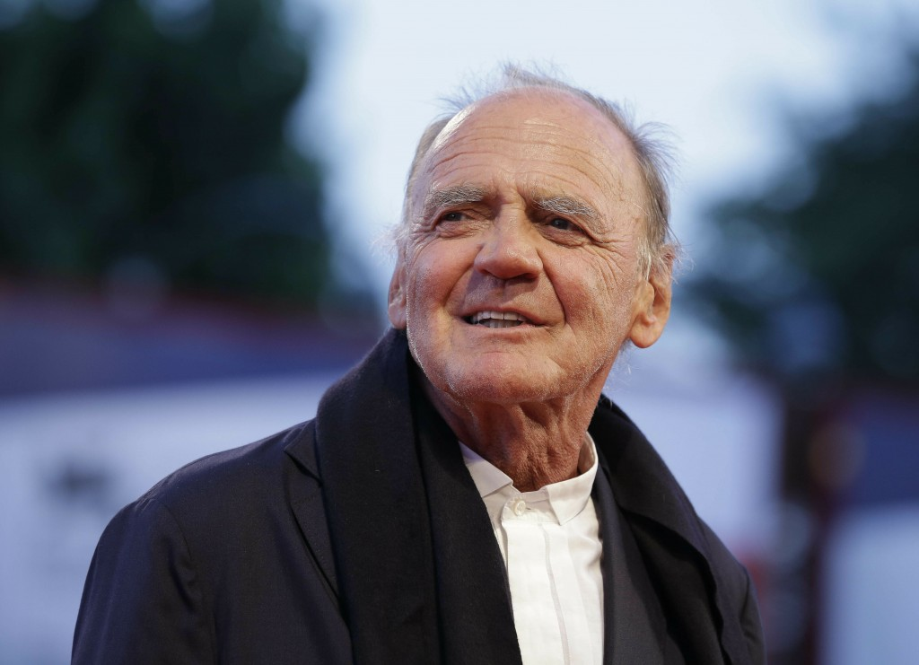 FILE - In this Thursday, Sept. 10, 2015, file photo, Actor Bruno Ganz arrives for the screening of the movie Remember at the 72nd edition of the Venic...