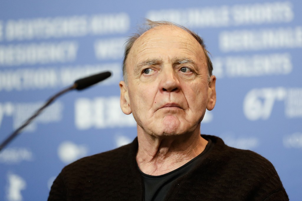 File - In this Monday, Feb. 13, 2017, file photo, Actor Bruno Ganz attends a press conference for the film 'The Party' at the 2017 Berlinale Film Fest...