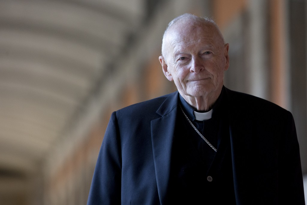 FILE - In this Feb. 13, 2013 file photo, Cardinal Theodore Edgar McCarrick poses during an interview with the Associated Press, in Rome. On Saturday, ...