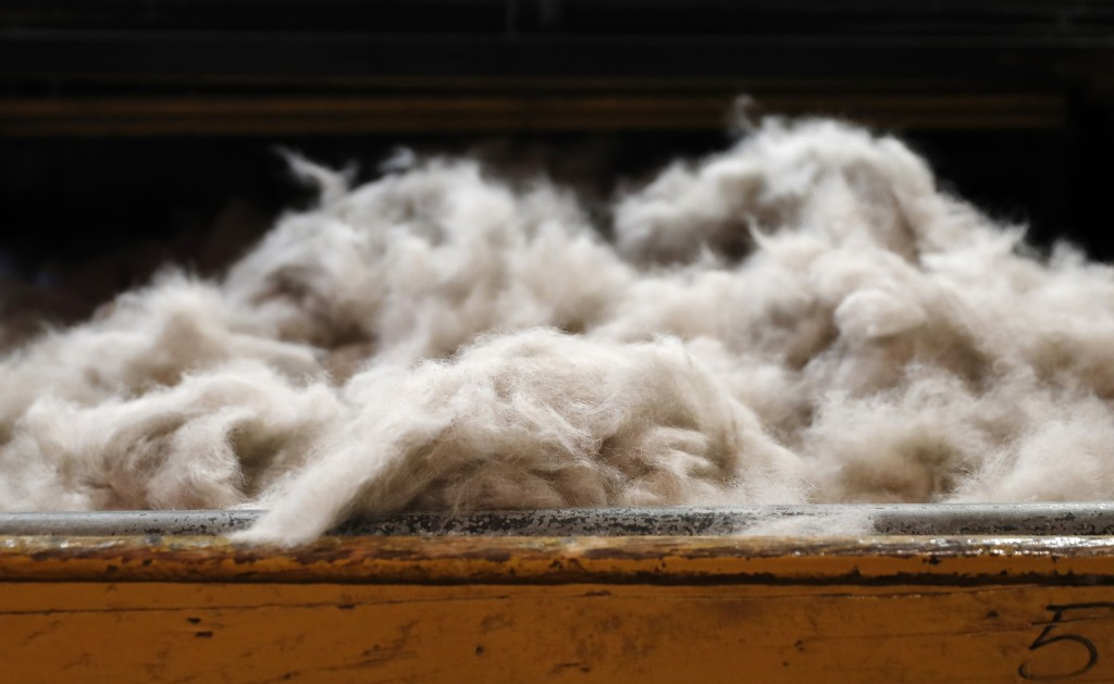 Rabbit fur to be moulded into a hat sits on a table at Borsalino's hat factory, in Spinetta Marengo, near Alessandria, Italy, Thursday, Jan. 17, 2019....