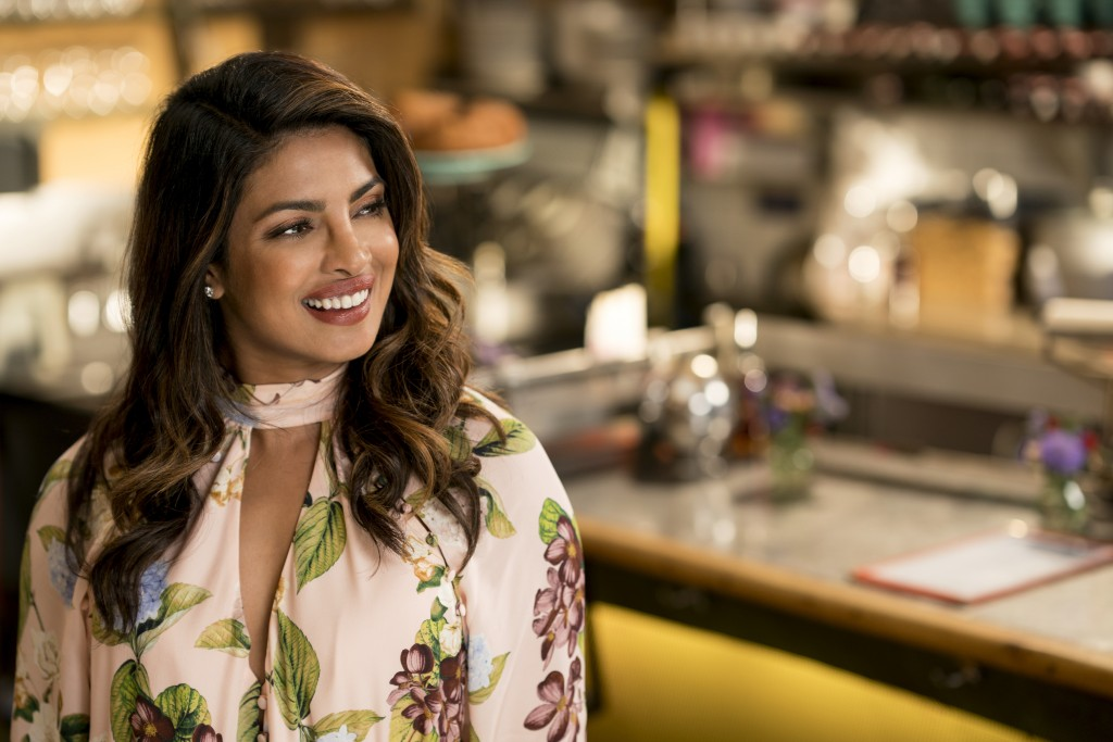 """This image released by Warner Bros. Pictures shows Priyanka Chopra in a scene from the film, """"Isn't It Romantic."""" (Michael Parmelee/Warner Bros. Pictu..."""