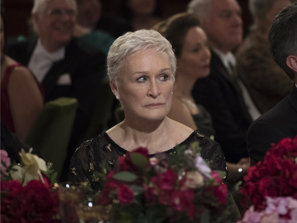 """This image released by Sony Pictures Classics shows Glenn Close in a scene from """"The Wife.""""  Close is nominated for an Oscar for best actress for her ..."""