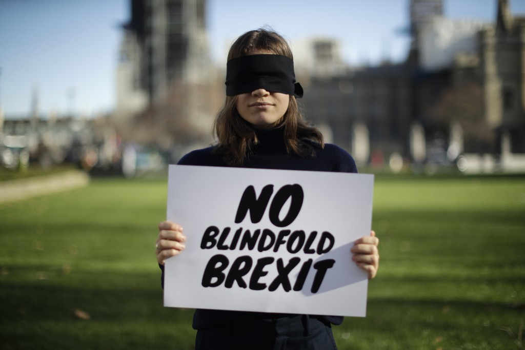 """Lara Spirit, aged 22 from Chichester, a remain in the European Union supporter and member of the """"Our Future, Our Choice"""" (OFOC) young people against"""