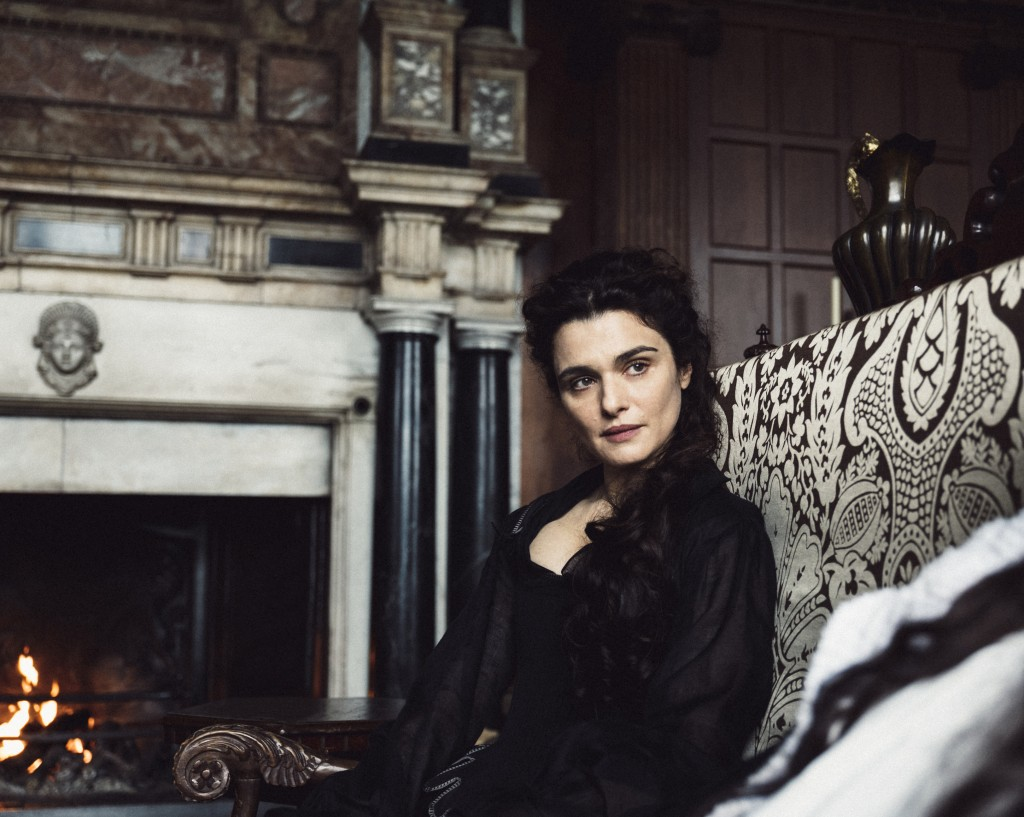 "This image released by Fox Searchlight shows Rachel Weisz in a scene from ""The Favourite."" Weisz is nominated for an Oscar for best supporting actress..."