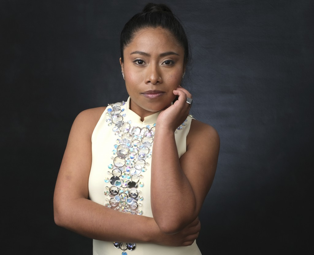 """FILE - In this Feb. 4, 2019 file photo, Yalitza Aparicio, nominated for an Oscar for best actress for her role in """"Roma,"""" poses for a portrait at the"""