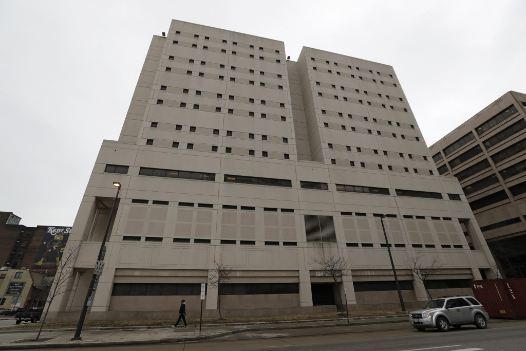 The Cuyahoga County Corrections Center is shown, Wednesday, Feb. 20, 2019, in Cleveland. The Cuyahoga County Corrections Center in downtown Cleveland ...