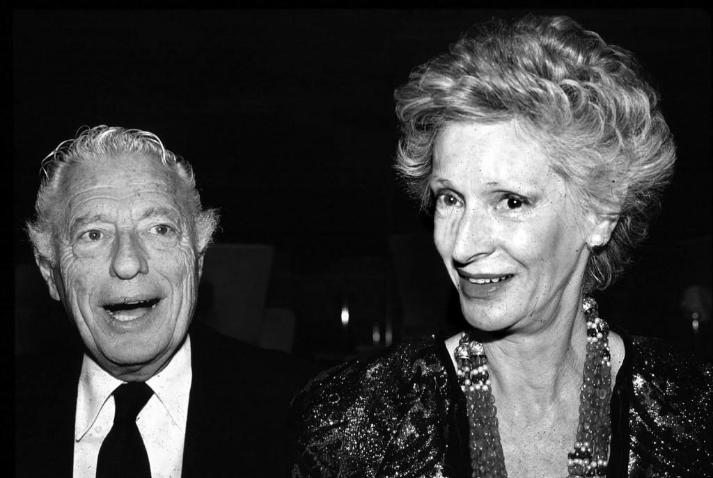 FILE - Giovanni Agnelli and his wife Marella Caracciolo are shown in this 1988 file photo. Italian state TV and news agency ANSA say Marella Agnelli,