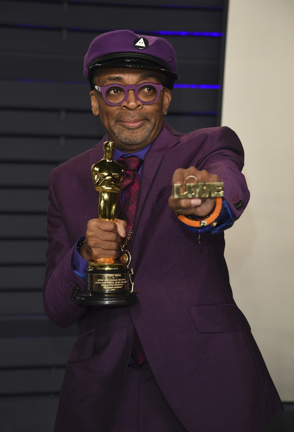 Spike Lee arrives at the Vanity Fair Oscar Party on Sunday, Feb. 24, 2019, in Beverly Hills, Calif. (Photo by Evan Agostini/Invision/AP)