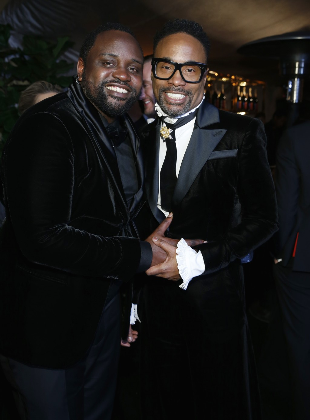 Brian Tyree Henry, left, and Billy Porter attend the Governors Ball after the Oscars on Sunday, Feb. 24, 2019, at the Dolby Theatre in Los Angeles. (P
